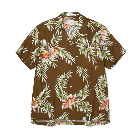 BEDWIN S/S OPEN COLLAR ALOHA SHIRT