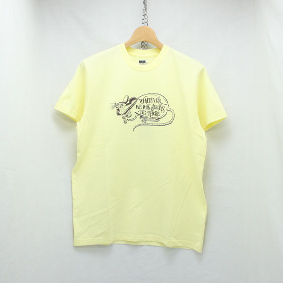 RATS WHATEVER T-SHIRT:YELLOW