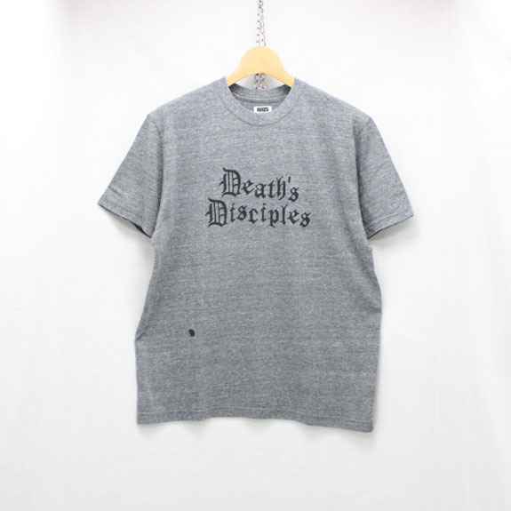 RATS SKULL BUTTERFLY T-SHIRT:TOP GRAY