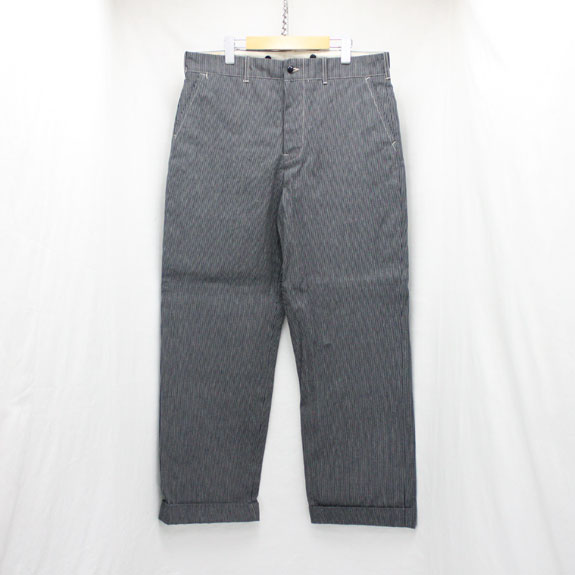 BELAFONTE RAGTIME STRIPE DENIM TROUSERS:NAVY HICKORY