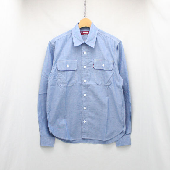 HIDE&SEEK Work L/S Shirt (18ss-1):CHAMBRAY