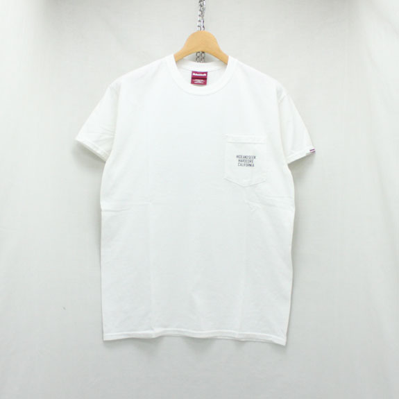 HIDE&SEEK HARD CORE CAL Pocket S/S Tee (18ss):WHITE