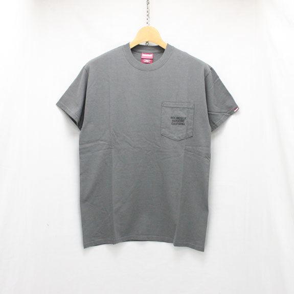 HIDE&SEEK HARD CORE CAL Pocket S/S Tee (18ss):C-GRAY