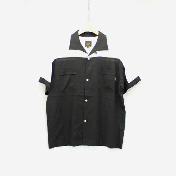 RATS BOWLING SHIRT:BLACK×WHITE
