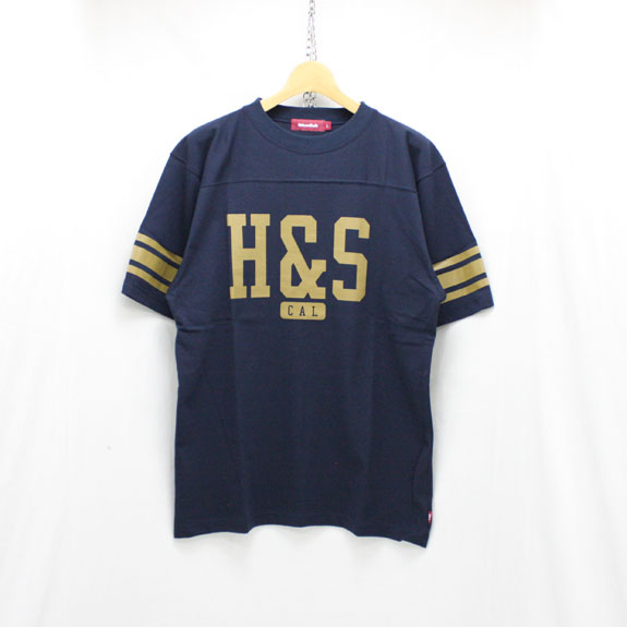 HIDE&SEEK Football S/S Shirt (18ss):NAVY