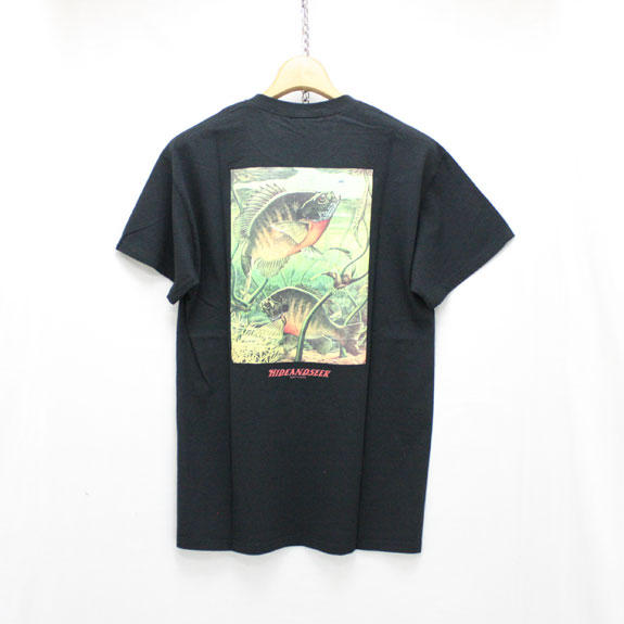HIDE&SEEK Fishing S/S Tee:BLACK