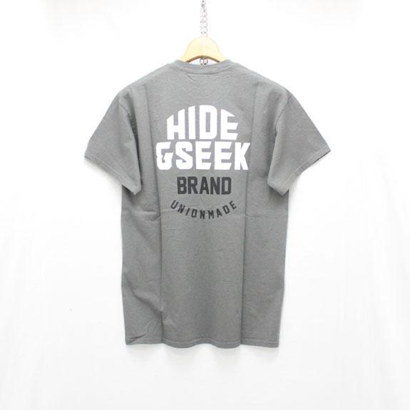 HIDE&SEEK HIDE&SEEK Pocket S/S Tee:C-GRAY