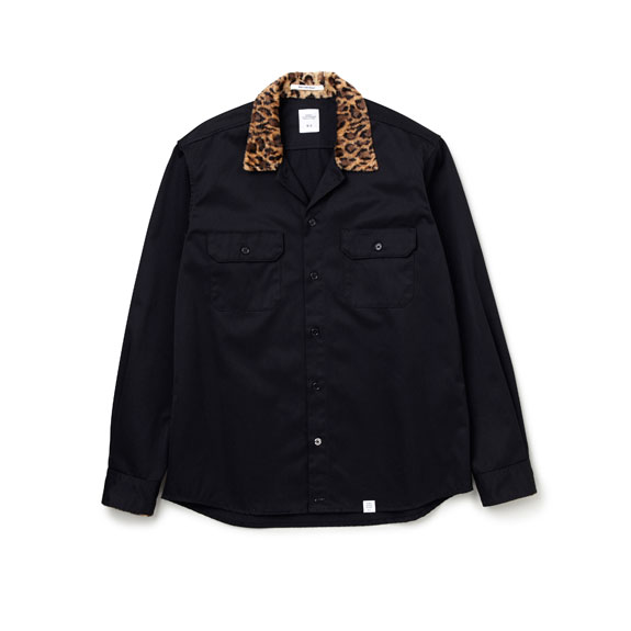 BEDWIN L/S LEOPARD COLLAR WORK SHIRT