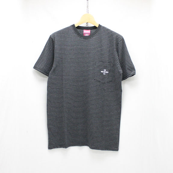 HIDE&SEEK Border Pocket S/S Tee:D-GRAY×GRAY