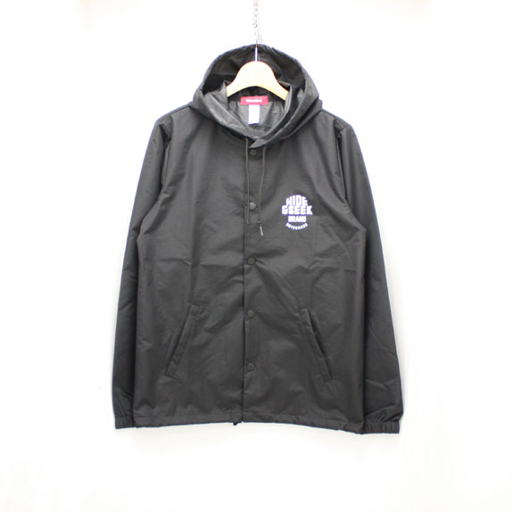 HIDE&SEEK HIDE&SEEK Food Nylon JKT:BLACK×WHITE