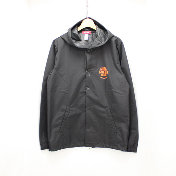 HIDE&SEEK HIDE&SEEK Food Nylon JKT:BLACK×ORANGE