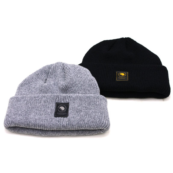 RATS WOOL KNIT CAP : Black , Gray